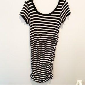 Splendid Maternity Black and White striped Dress